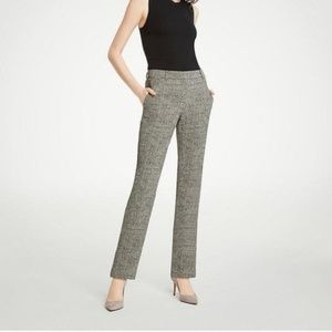 Ann Taylor Ankle Pants Crosshatch Curvy Fit Gray 2